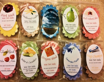 10 (2pk) Highly Scented Soy Wax Tarts [20 total]--Assorted scents + Free gift.....SALE!!