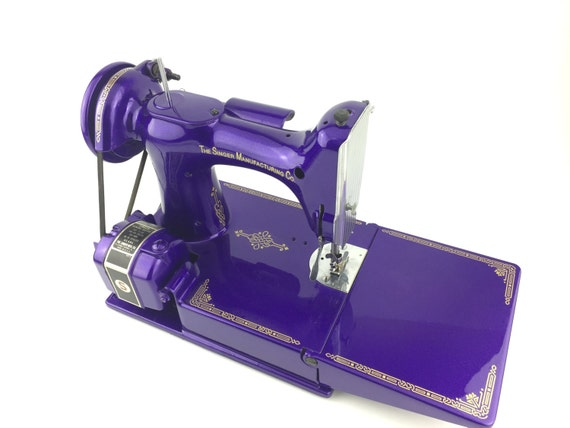 Singer 221 Featherweight Sewing Machine Custom Painted