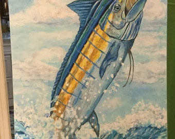 Marlin Painting 18 x 48 inches original painting arcylic