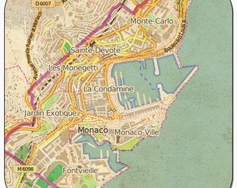 Monaco Vintage Map Coasters