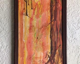 Original fall paper mâchè art
