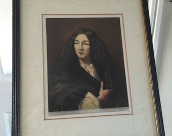 Original Framed Signed Will Henderson Mezzotint Portrait