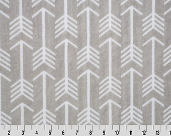 Premier Archer Arrow Cuddle in Silver and Snow from Shannon Fabric