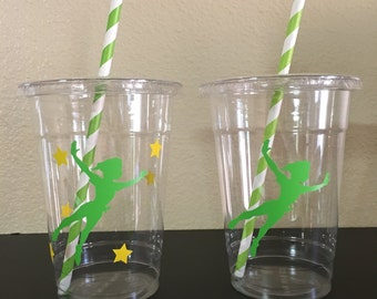 Peter Pan Party cups, Peter pan Birthday party cups