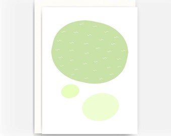 Blank Greeting Card Note Card A2 Card - Cell Theory No. 4
