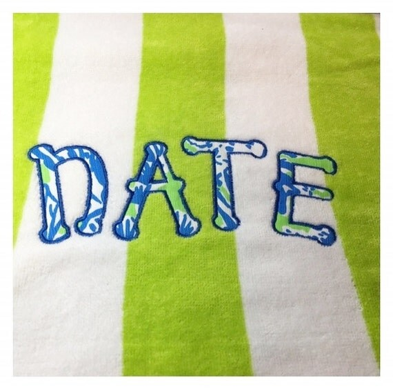 Items Similar To Monogram Beach Towel, Lilly Pulitizer
