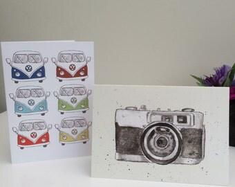 Vintage Camera Greetings Cards