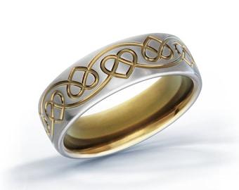 Celtic Heart Ring, Celtic Titanium Ring, Irish Ring, Engagement Ring