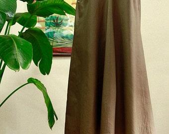 Hawaiian fabric , Khaki , No sleeve dress ,HNLS-SALE-8