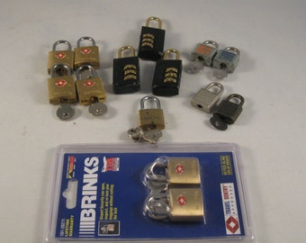 Vintage Luggage Locks With Keys