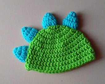 Dinosaur Crochet Hat, Photo Prop