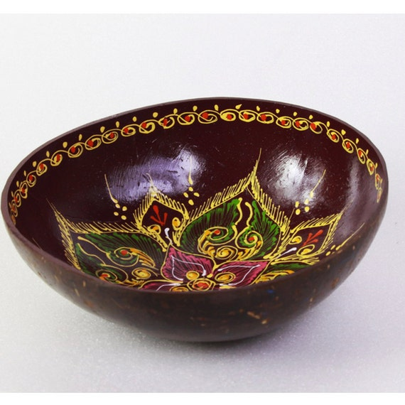 Classic Oriental Decorative Multipurpose Handmade Coconut Shell Bowl (PC 08)