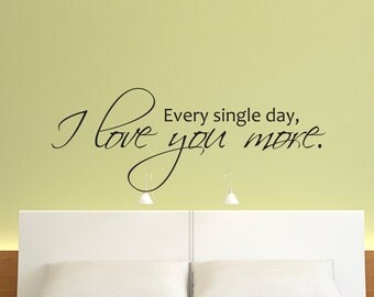 Vinyl Wall Decal, Love Wall Decal, Love Vinyl Wall Decal, Love You More Vinyl Wall Decal, Nursery Wall Decal