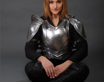 "Larp Galadriel Medieval Elf Fantasy Costume elven steel armor ""Forest Soul"": full cuirass (breastplate and back plate)"