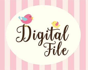 Printable Digital File Option Valid Only for Birthday Invitations