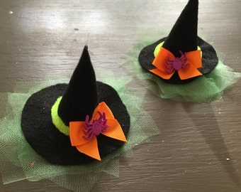 Witch Hat, Headband, Hair Clip, Halloween, Handmade, Accessories