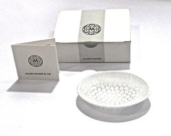 Murano Glass Dish, Ercole Moratti Murano Millefiori Curved Dish, Murano Star and Flower Mosaic, Dish, Murrine Glass