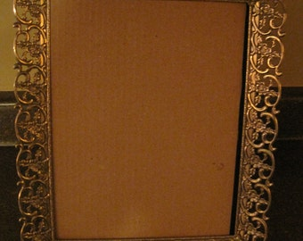 Vintage metal ornate detailed picture frame