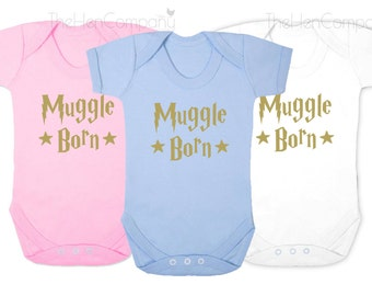 Harry Potter Babygrow Quote Muggle Born Quote Babygrow Quote Bodysuit Funny Baby Clothes Bodysuit Baby Girl