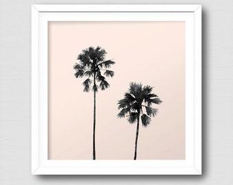 Palm Tree Art Print, Tropical Plant, Instant Download, Digital Art Print, Wall Decor, Modern Wall Art Illustration