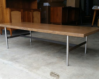 Vintage 1950's George Nelson Coffee Table Bench Mid Century Modern Herman Miller MCM Eames Original Condition