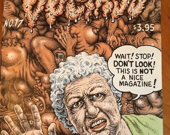 Weirdo No. 17 door R. Crumb Avant Garde Comic Book Vintage jaren tachtig 80s 1980 jaren negentig jaren 90 1990 comix grafische roman ondergrondse voor volwassenen alleen