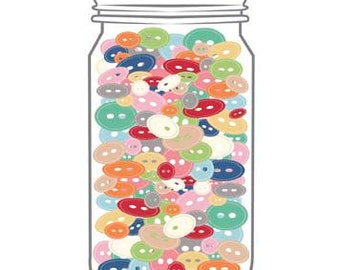 Cute little Button Jar by Lori Holt for Riley Blake Designs - Buttons