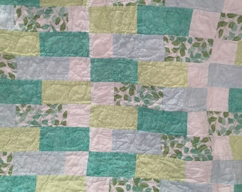 Hand Quilted Gender Neutral Baby Quilt