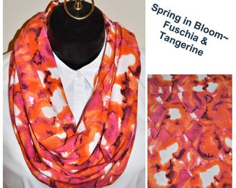 Spring in Bloom~ Fushia and Tangerine