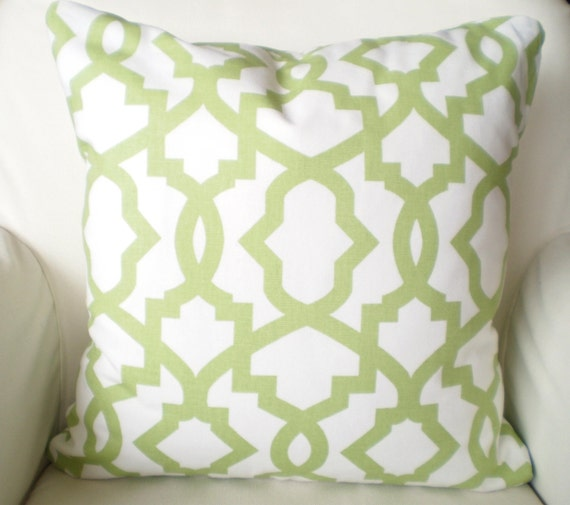 Green Throw Pillows Etsy : Green Decorative Throw Pillow Cover Cushion by PillowCushionCovers
