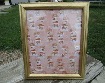 Gold 8X10 frame, Gold wood frame, Painted frame, Wedding frame, Anniversary frame, Gold decor, Gold picture frame, Picture frame, 8X10 frame