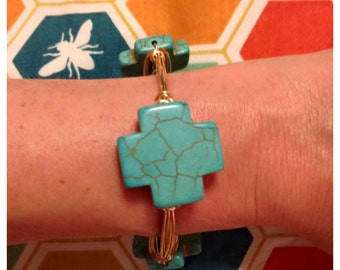 Turquoise Cross Bangle