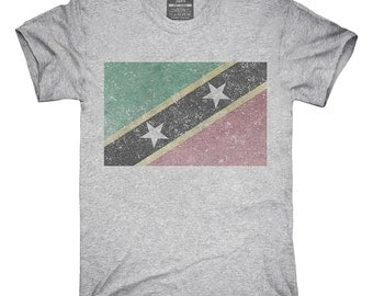 Retro Vintage Saint Kitts And Nevis Flag T-Shirt, Hoodie, Tank Top, Gifts