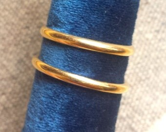Vintage 14k Gold Stacking Bands - Sold Separately