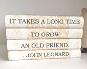 Personalized Gift for Friend, Friendship Gift Custom Books, Quote Books, Red Books, Decorative Quote Books for Friend, Housewarming Gift