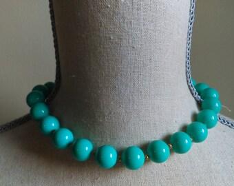 Vintage Aqua/Turquoise Necklace.