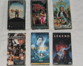 VHS-fantasy-labyrinth-lot of 6-1990s-GD