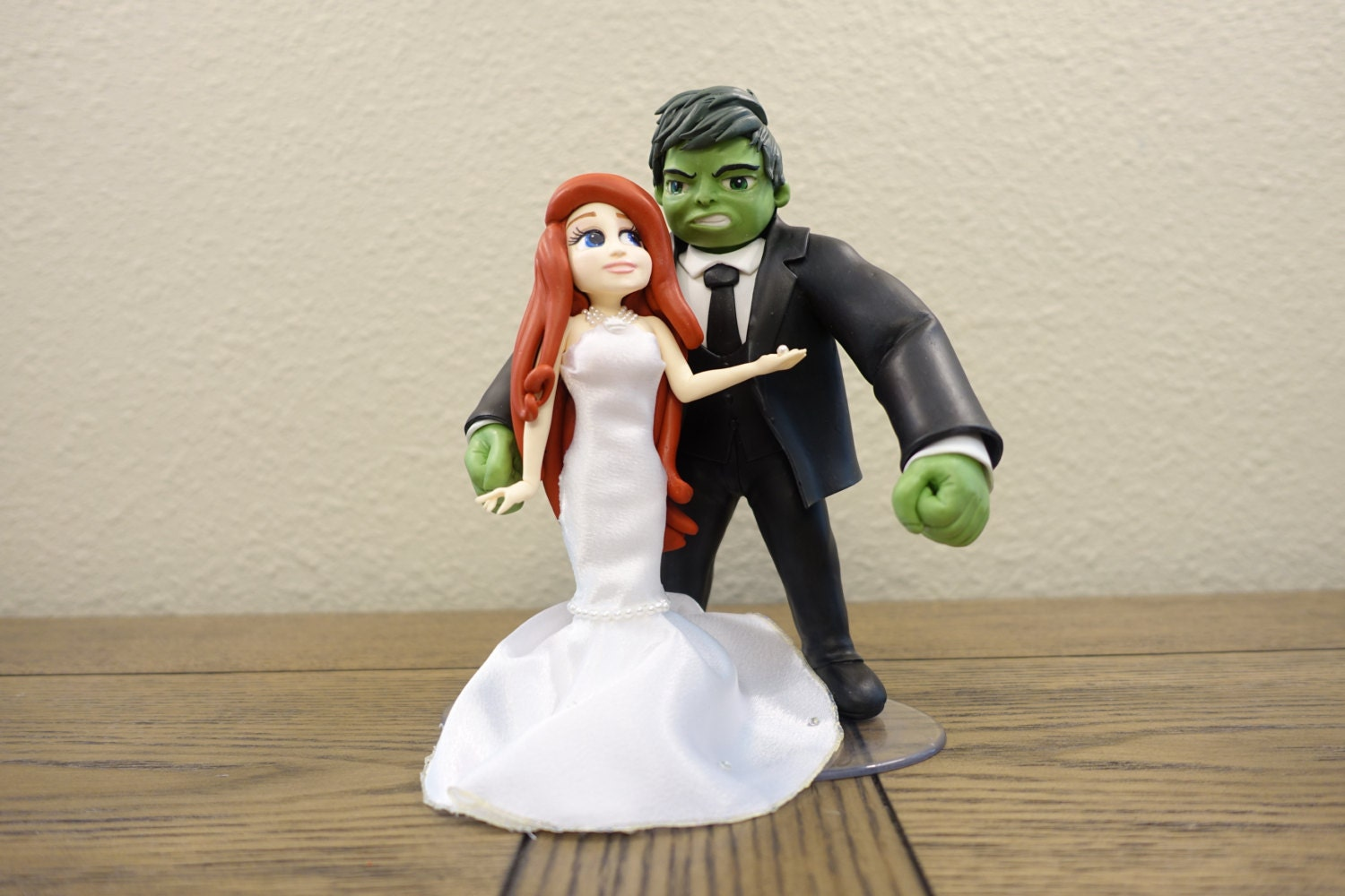 the little mermaid ariel in a wedding dress and hulk cake. Black Bedroom Furniture Sets. Home Design Ideas