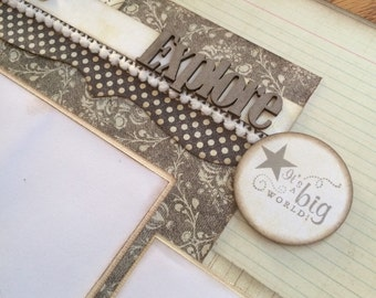 Scrapbook Page Kit titked EXPLORE - double page kit
