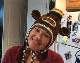 Sock monkey top hat