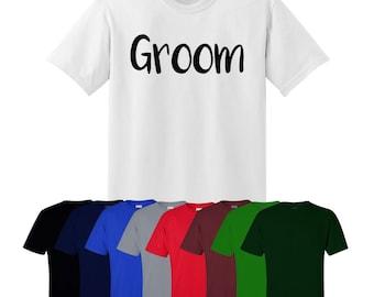 Groom T-shirt Stag Do Best Man Wedding Gift Mens UK Ships Worldwide S-XXL