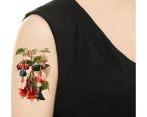 Temporary Tattoo - Vintage Floral - Various Patterns