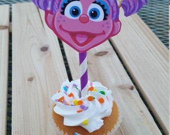 Abby Cadabby cupcake toppers, abby cadabby birthday party