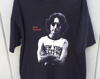Vintage 1996 John Lennon Beatles Bob Gruen Imagine Graphic T Shirt sz XL