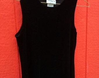 Vintage 90's Black Velvet Dress
