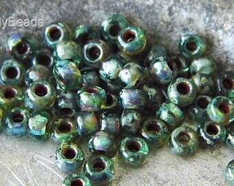 Mossy Green, Czech Beads, Seed Beads, sb9506