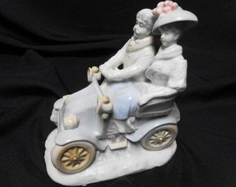 KPM Vintage Arnart Figurine Man and Woman on a Sunday Drive
