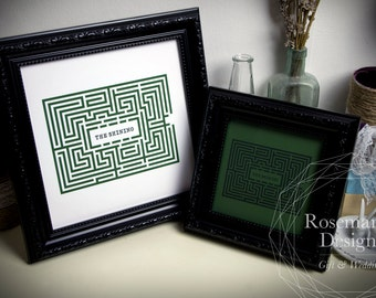 The Overlook Maze from 'The Shining' in an Ornate Black or White Frame
