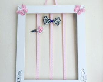 Hair clip holder, hair bow holder, barrette holder, barrette organizer