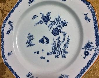 Antique WOODS WARE 1920s Old Bow Kakiyemon 5 Octagonal Dinner Plates